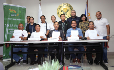 DA and Seed Growers' Cooperatives MOA Signing
