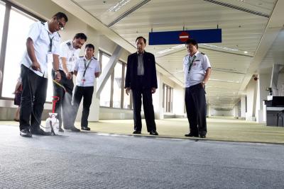 Inspection of Footbaths at NAIA Terminal 1