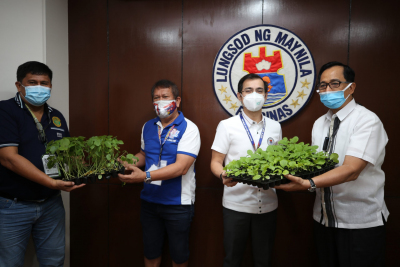 Turnover of Vegetable Seeds and Seedlings to the City of Manila